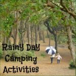 rainy day camping activities