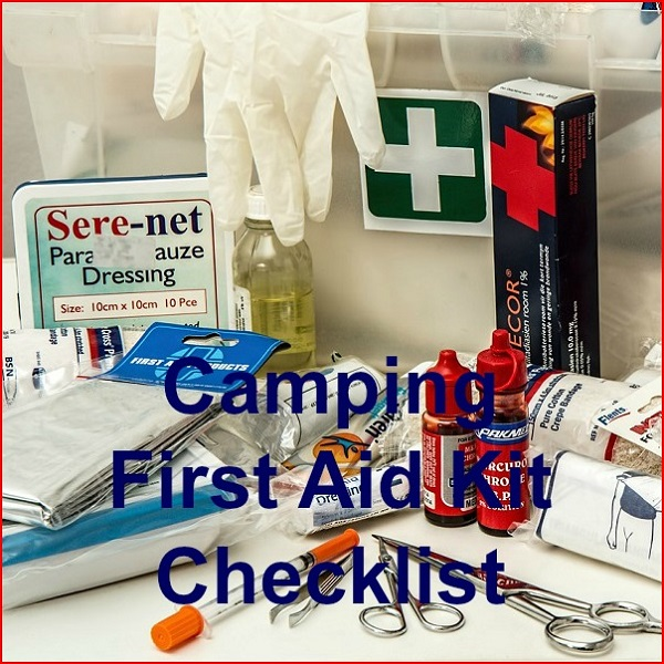 camping first aid kit checklist