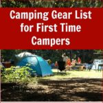 Camping gear list for first time campers